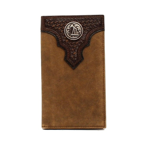 Ariat Western Wallet Mens Rodeo Overlay Rig Concho Aged Bark - One size