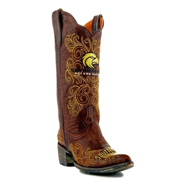 Gameday Boots Womens College Team South Mississippi Brass