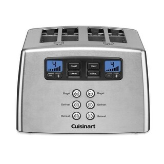 Cuisinart CPT-440 Touch to Toast Leverless 4-Slice Toaster, Stainless Steel
