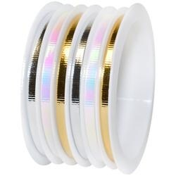 "Gold & Silver - Multi-Channel Metallic Ribbon 1/8""X75'"