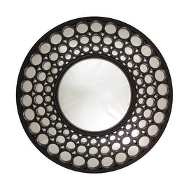 Round Metal Geometric Wall Mirror 18852606 Overstock