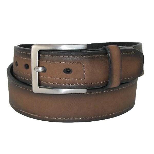 Dickies Men's Reinforced Leather Industrial Strength 1 1/2 Inch Belt