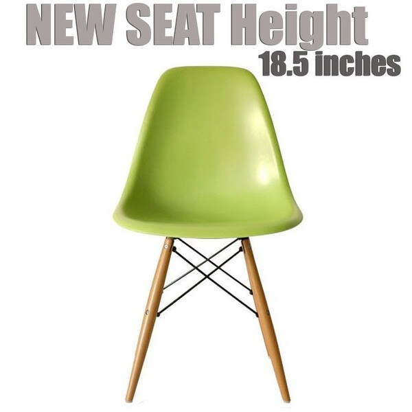 2xhome Modern Side Dining Chair Green with Natural Wood Legs