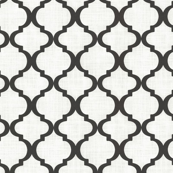 Brewster 2618-21351 Palace Black Quatrefoil Wallpaper - N/A