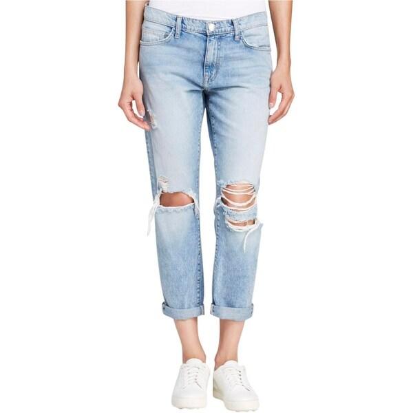 Current/Elliott Womens The Fling Slim Jeans Denim Destroyed