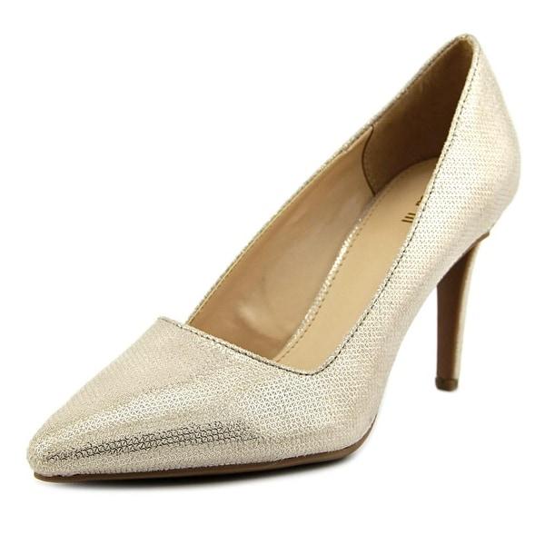 Bar III Joella 2 Women Pointed Toe Leather Gold Heels