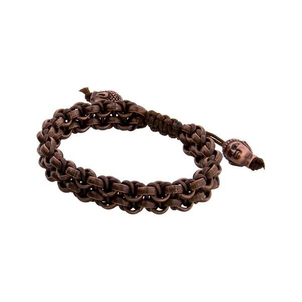 Links Women's Brown Two Row Bracelet in Copper Oxide Plate