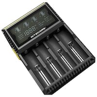 NITECORE D4 Digital 4-slot Universal Battery Charger - Black