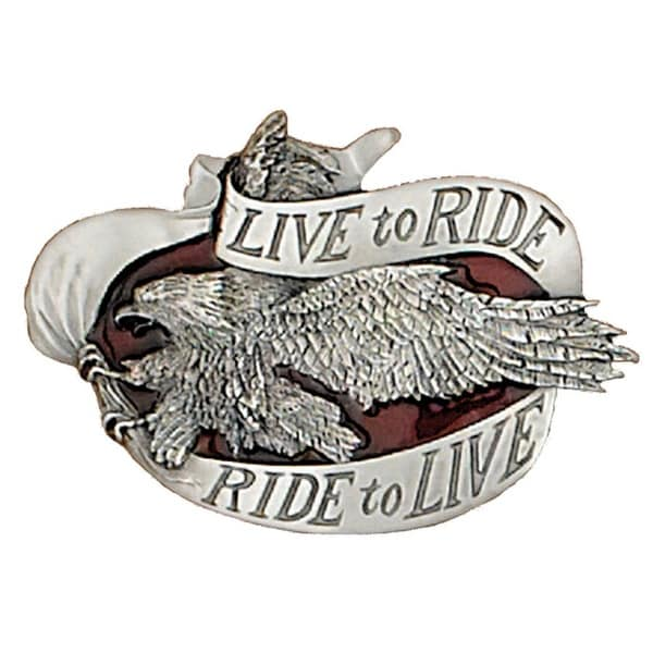 Live To Ride Belt Buckle - One size