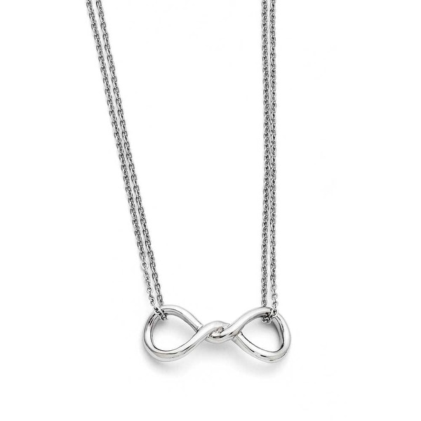 Chisel Stainless Steel Polished Infinity Symbol Two Strand Necklace (1 mm) - 18.25 in
