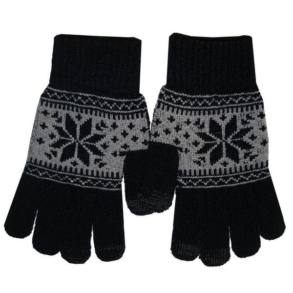 Boss Tech BTP-GLV-PRPBLK Knit Touchscreen Gloves, Texting Gloves, Tech Gloves (B
