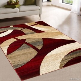Indoor Brown Abstract Area Rug 5 X 7 6 13318852