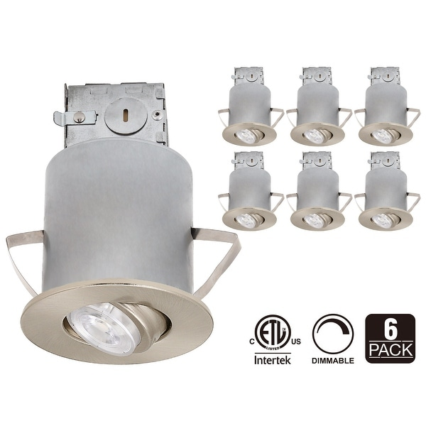 "3"" IC Rated Recessed Lighting Kit, Swivel Trim, LED Dimmable Bulb (Warm White)"
