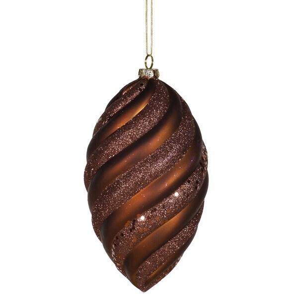 "8"" Chocolate Matte-Glitter Swirl Drop"