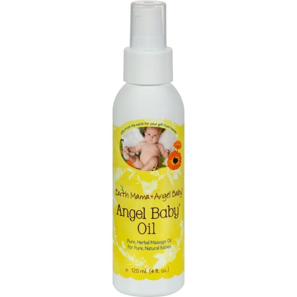 Earth Mama Angel Baby Oil - 4 oz - 2 Pack
