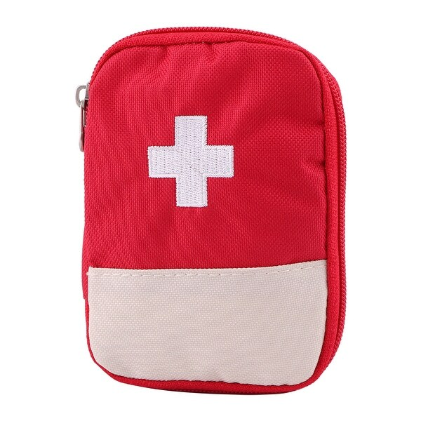 Travel Outdoor Oxford Cloth Emergency First Responder Aid Rescue Storage Bag Red
