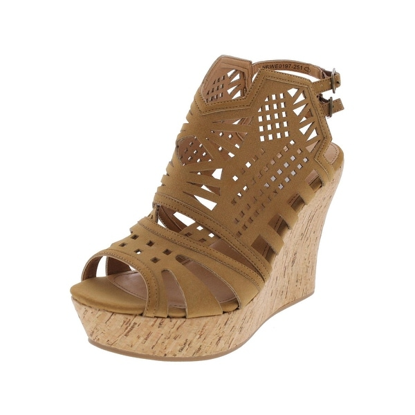 Not Rated Womens Elysium Wedge Sandals Caged Slingback