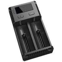 NITECORE I2 Intellicharger 2-Slot Universal Battery Charger - Black