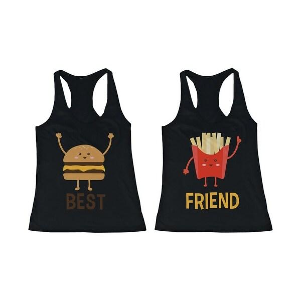 Burger and Fries BFF Tank Tops Best Friend Matching Tanks Sleeveless Shirts
