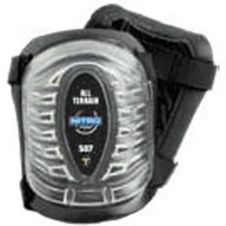 Tommyco HD507 All Terrain Foam Cool Max Knee Pad, Clear Cap, Black