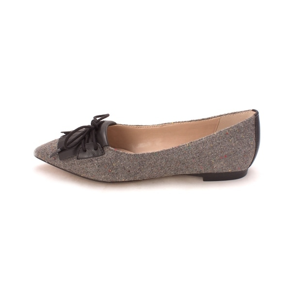French Connection Womens GENEVA Leather Pointed Toe Loafers - 6.5