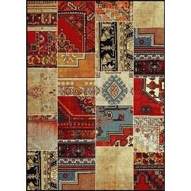 New Medallion Multi Colored Area Rug 8x10 Carpet Soft Rug