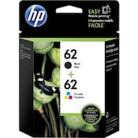 HP 62  Black & Tri-Color Original 2 Ink Cartridges (N9H64FN)(Single Pack)