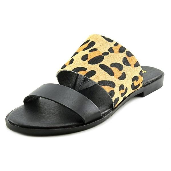 Matisse Minnie Women Open Toe Leather Brown Slides Sandal