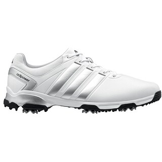 Adidas Men's Adipower TR Running White/Silver/Black Golf Shoes Q46885/Q44622 (Medium Width)