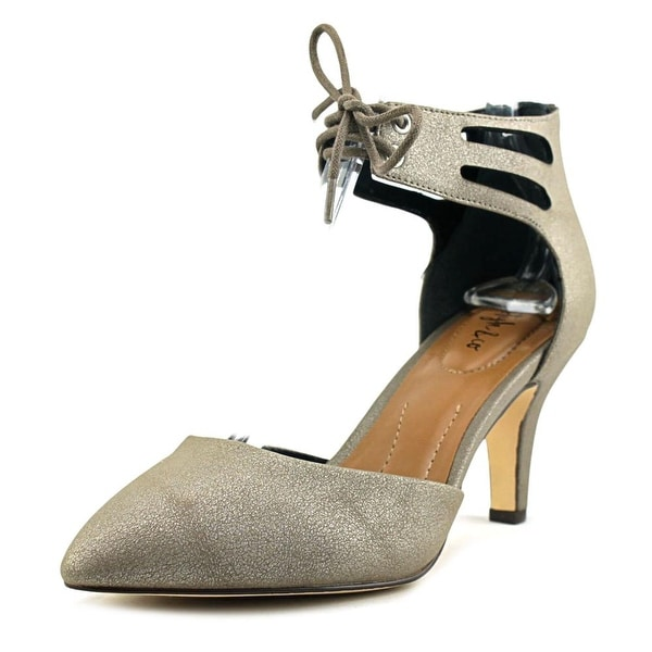 Style & Co Vanaa Women Round Toe Synthetic Bronze Heels