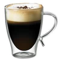 Starfrit Double Wall Glass Coffee mug, 12-Ounce