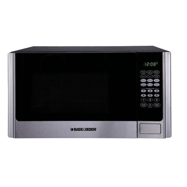 Black & Decker EM925AME-P1 Microwave, 0.9 Cu.ft, Stainless steel/Black