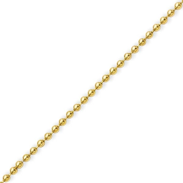 Stainless Steel IP Gold-plated 2.0mm 24in Ball Chain (2 mm) - 24 in