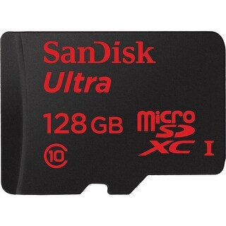 SanDisk 128GB Micro SDXC Memory Card Ultra Class 10 UHS-I with SD Adapter