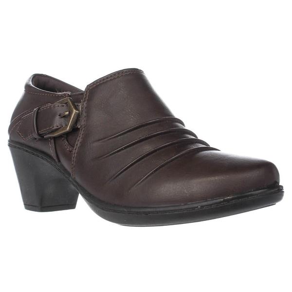 Easy Street Burnz Buckle Ankle Booties, Brown - 6.5 w us