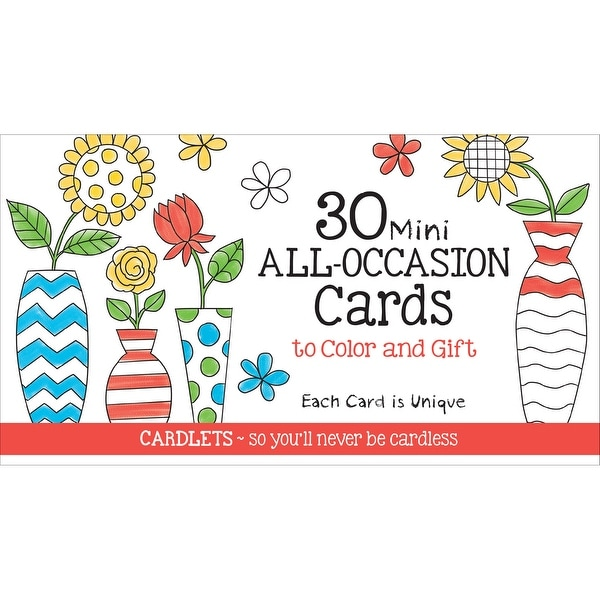 Coloring Cafe Mini All Occasion Coloring Cards 30/Pkg-