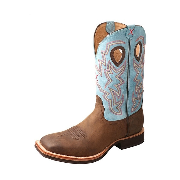 Twisted X Western Boots Mens Tear Drop Silver Buckle Crazy