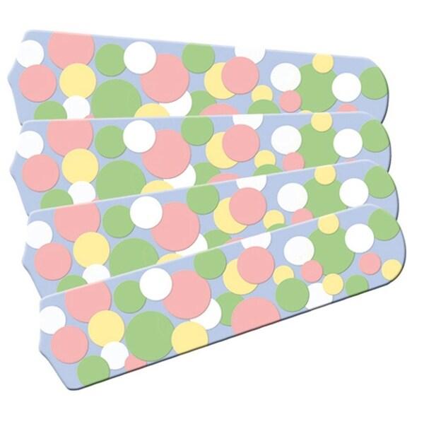 Pastel Dot Custom Designer 42in Ceiling Fan Blades Set - Multi