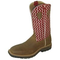 Twisted X Work Boots Mens Western Steel Toe Distressed Cherry
