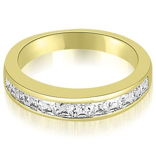 0.85 cttw. 14K Yellow Gold Channel Set Princess Cut Diamond Wedding Band