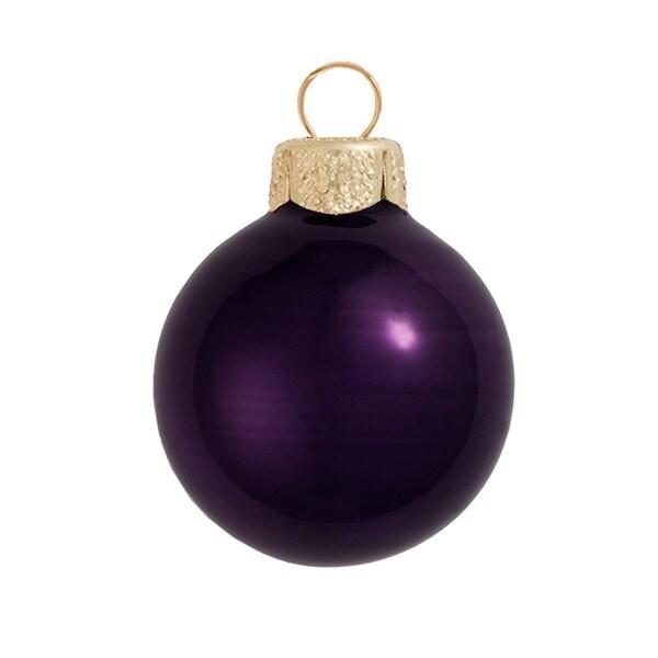 "Pearl Purple Glass Ball Christmas Ornament 7"" (180mm)"