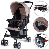 Safeplus Foldable Lightweight Baby Stroller Kids Travel Pushchair 5-Point Safety System