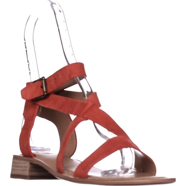 Franco Sarto Alora Flat Cross Strap Sandals, Orange