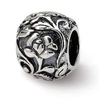 Sterling Silver Reflections Floral Bead (4mm Diameter Hole)