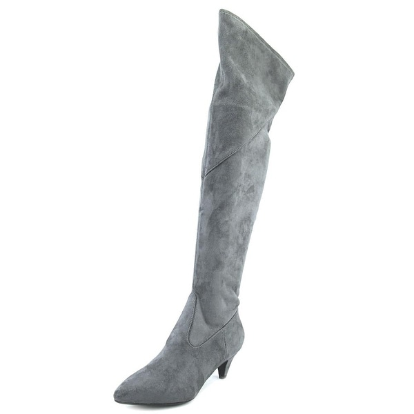 Impo Edeva Women Pointed Toe Synthetic Black Over the Knee Boot