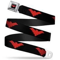 Nightwing Logo Full Color Black Red Nightwing Logo Black Red Webbing Seatbelt Belt