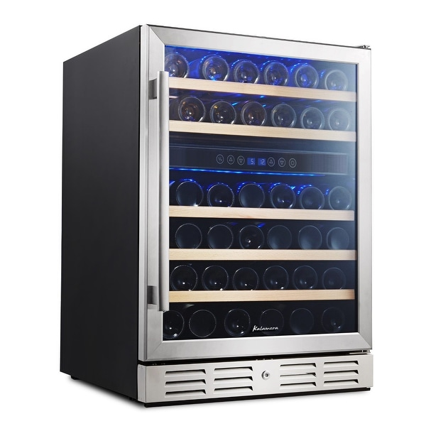 Kalamera 24 46 Bottle Wine Cooler Refrigerator Built In Dual Zone Stainless Steel