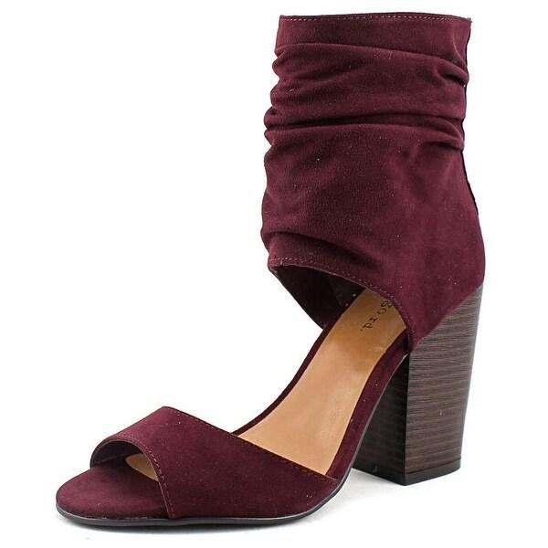 Indigo Rd. Ivana Women Open-Toe Canvas Burgundy Heels