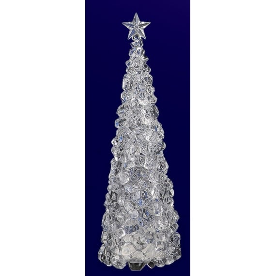 """Pack of 2 Icy Crystal Illuminated Ice Cube ChristmasTree Figures 27"""""""