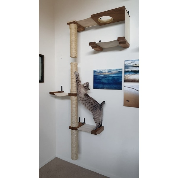Cat Skyscraper Complex Handcrafted Sisal Canvas And